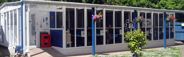 Pedigree Pens PVCu Cat Pen installation at Blue Cross