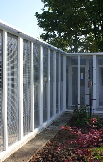 uPVC Cattery constructed for Meadow Farm Cattery, Staffordshire