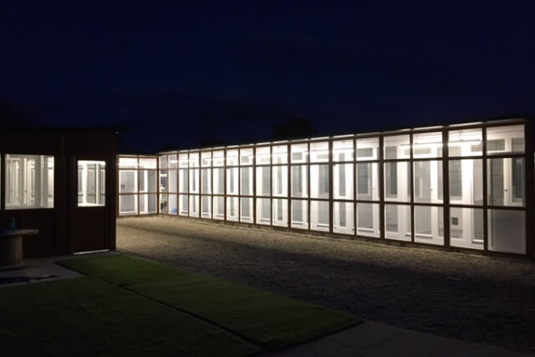 Cattery at night